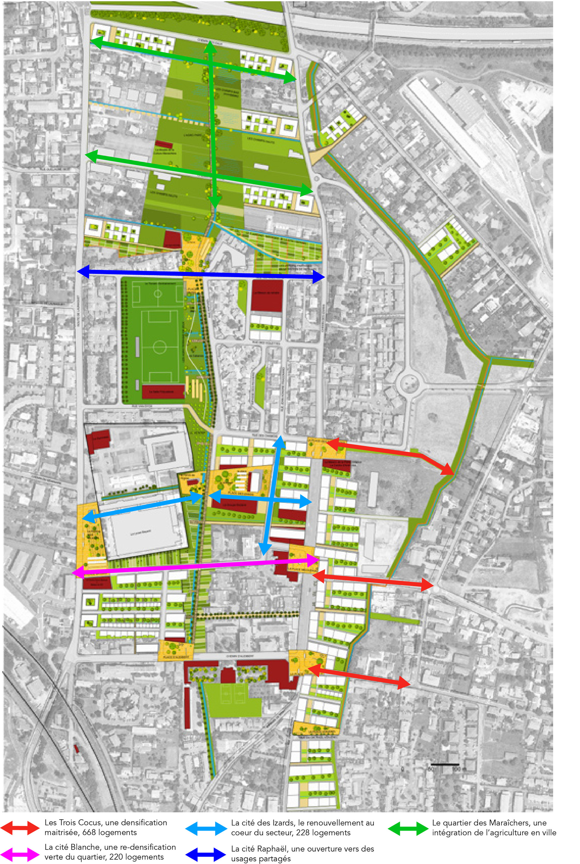 un objectif de densification de l'espace urbain