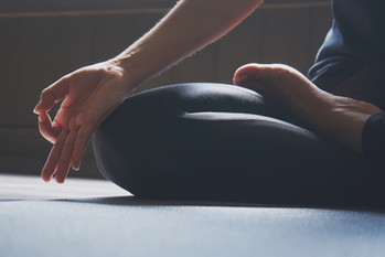 Woman practicing yoga in various poses-1