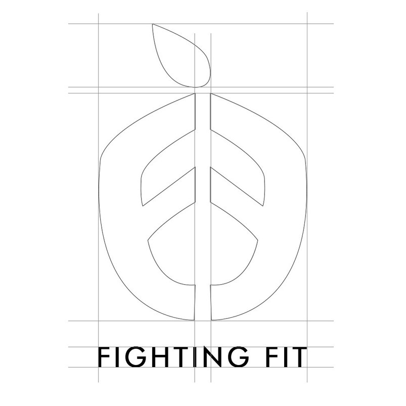 Fighting Fit logo sketch