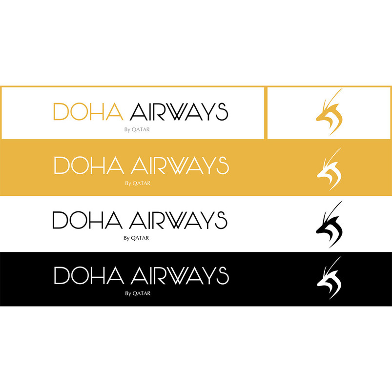 Doha airways typography