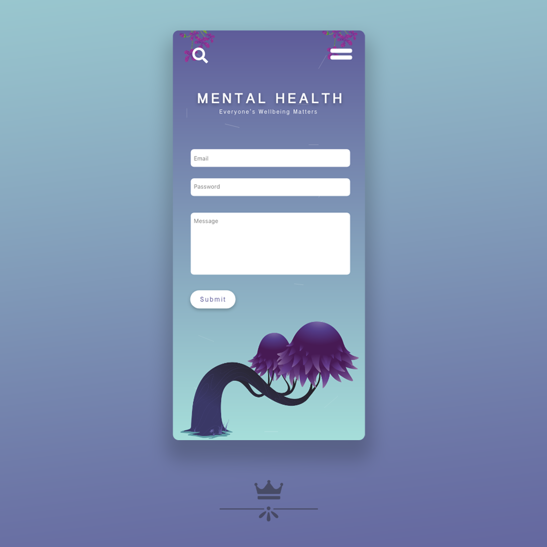 Mental Health Contact us page