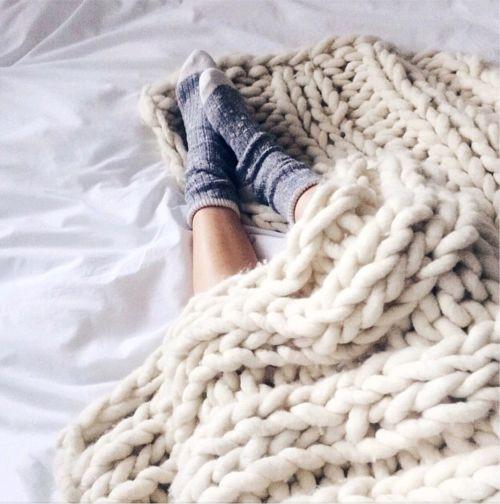 Self care socks and blanket