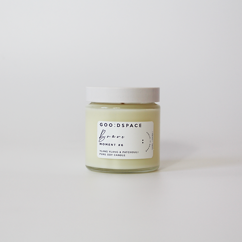 BRAVE... YLANG YLANG  &. PATCHOULI GOO:DSPACE SOY CANDLE