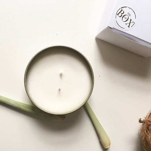 JUST A GOLD MOMENT - LIME & BASIL ENERGY PURE SOY CANDLE 200ML