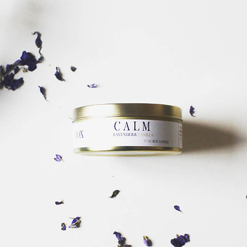 JUST A GOLD MOMENT - LAVENDER & VANILLA CALM PURE SOY CALM CANDLE 200ML