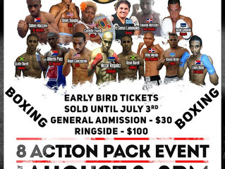"""War in Paradise"" Pro Boxing tournament with Justin Gogulski"