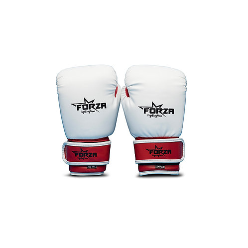 FORZA KIDS RED WHITE ARTIFICIAL BOXING GLOVES