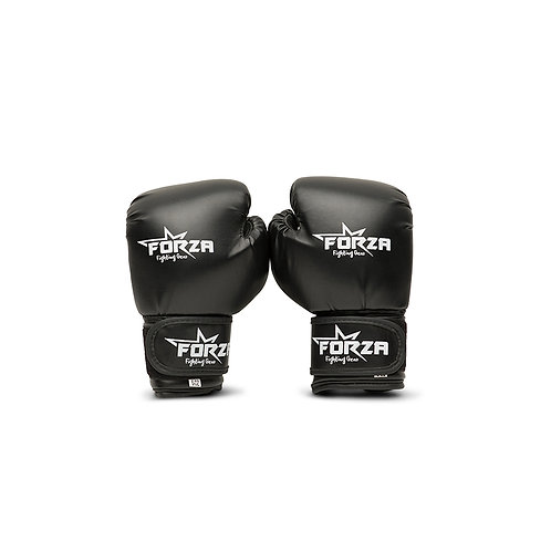 FORZA KIDS BLACK ARTIFICIAL BOXING GLOVES