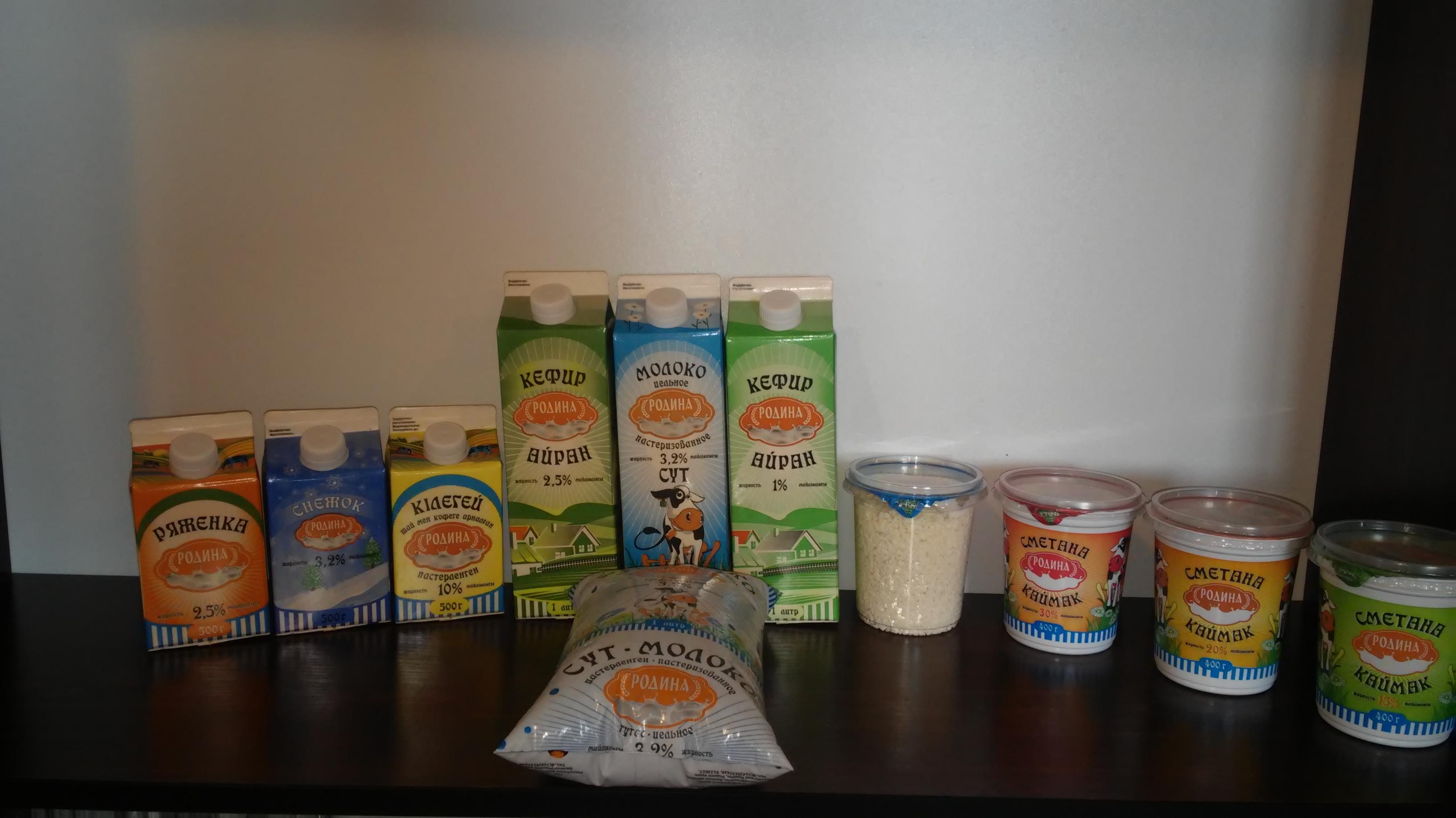 Выпускаемая молочная продукция