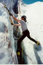 Me climbing alpine ice