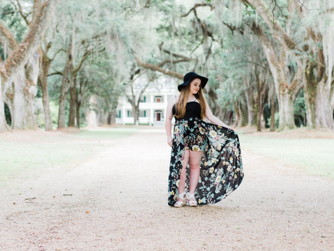 Alayna | Rosedown Plantation Senior Session