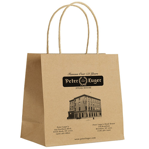 "16"" x 6"" x 16"" CLASSIC Custom Printed Kraft Shopping Bag 200 pc./Case"