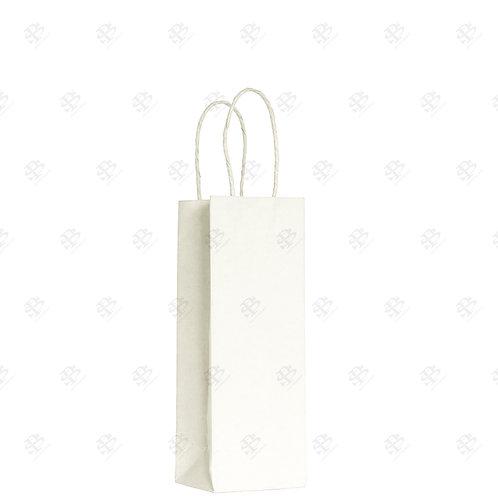 "5 1/2"" x 3 1/4"" x 8 3/8"" ROSE White Shopping Bag 250 pc./Case"