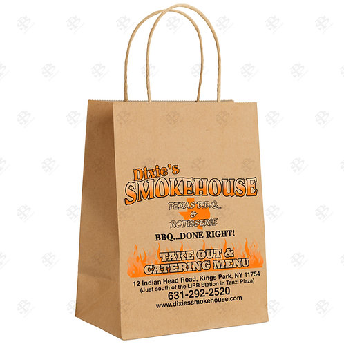 "13"" x 7"" x 17"" MART Custom Printed Kraft Shopping Bag 250 pc./Case"