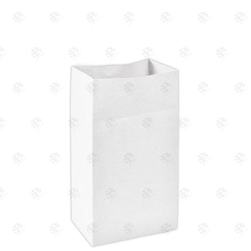 """7"""" x 4 1/2"""" x 13 3/4"""" #12 White Bag 400 pc./Case"""