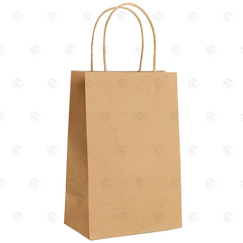 "10"" x 7"" x 12"" BISTRO Kraft Shopping Bag 250 pc./Case"