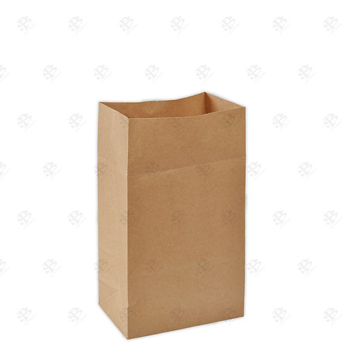 "6 1/8"" x 4"" x 12 3/8"" #8 Kraft Bag 400 pc./Case"
