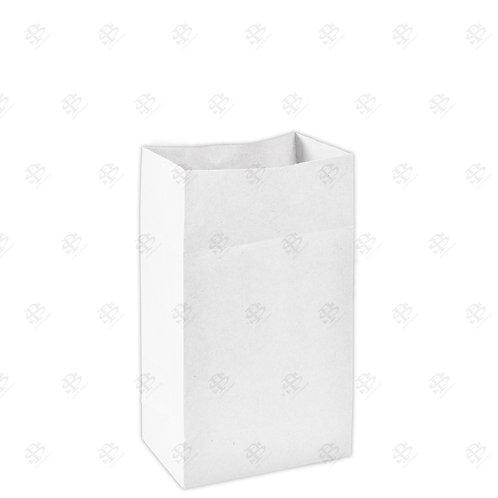 """6 1/8"""" x 4"""" x 12 3/8"""" #8 White Bag 400 pc./Case"""