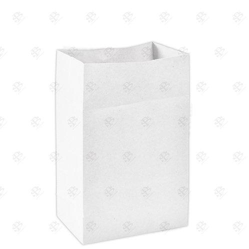 """8 1/4"""" x 5 15/16"""" x 13 3/8"""" #20 White Bag 400 pc./Case"""