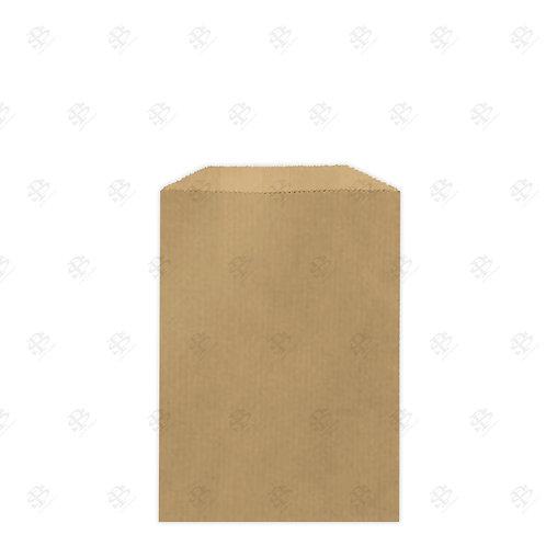"1/4# Recycled Natural Brown Kraft Gourmet Glassine Bags 4.75 x 6.75"" (1000/case)"