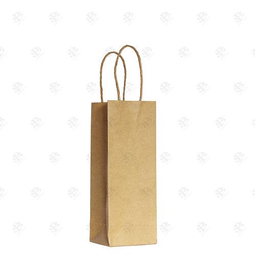 """5 1/2"""" x 3 1/4"""" x 8 3/8"""" ROSE Kraft Shopping Bag 250 pc./Case"""
