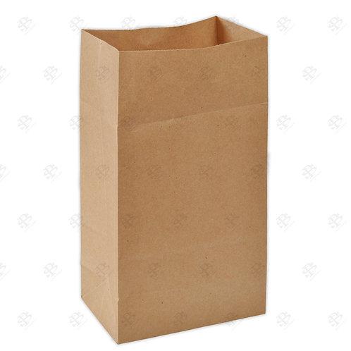 """8 3/8"""" x 5 1/4"""" x 18"""" #25 Kraft Bag 400 pc./Case"""