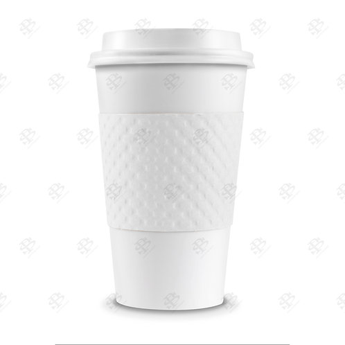 White Cup Sleeve 1,300  per case