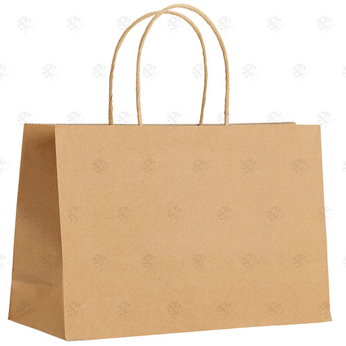 "16"" x 6"" x 12"" VOGUE Kraft Shopping Bag 250 pc./Case"