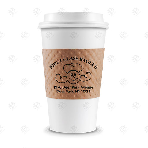 Kraft Cup Sleeve Custom Printed 1,300  per case
