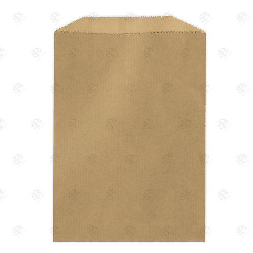 "1# Recycled Natural Brown Kraft Gourmet Glassine Bags 4.75 x 6.75"" (10"