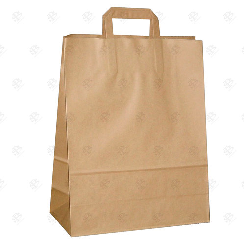 "12"" x 7"" x 16 1/2"" BBL FLAT HANDLE Shopping Bag 300 pc./Case"