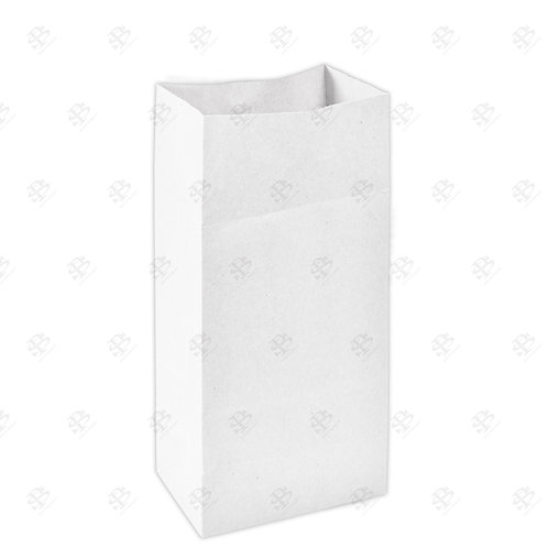 "7 3/4"" x 4 7/8"" x 15 3/4"" #16 White Bag 400 pc./Case"