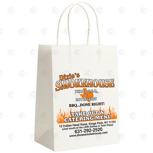 "13"" x 7"" x 17"" MART Custom Printed White Shopping Bag 250 pc./Case"