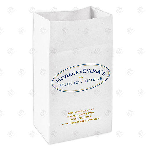#25 Custom Printed White Bag 400 pc./Case