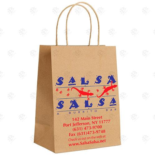 "9"" x  5 3/8"" x 13 1/2"" TRIM KARI Kraft Shopping Bag 250 pc./Case"