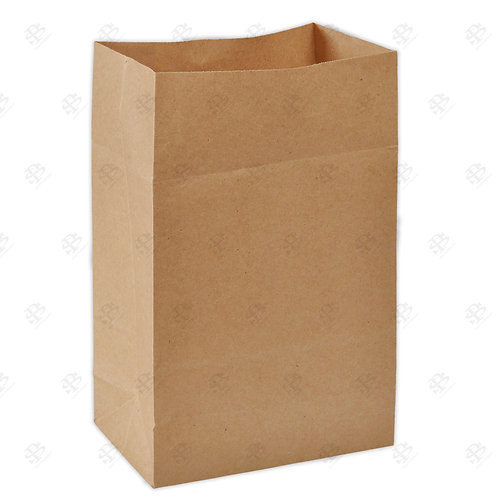 "10 1/8"" x 6 3/4"" x 14 3/8"" 1/8 Kraft Bag 400 pc./Case"