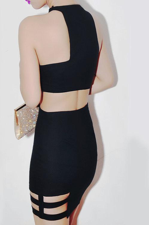 Asymmetric cutout bodycon dress (SOLD OUT)