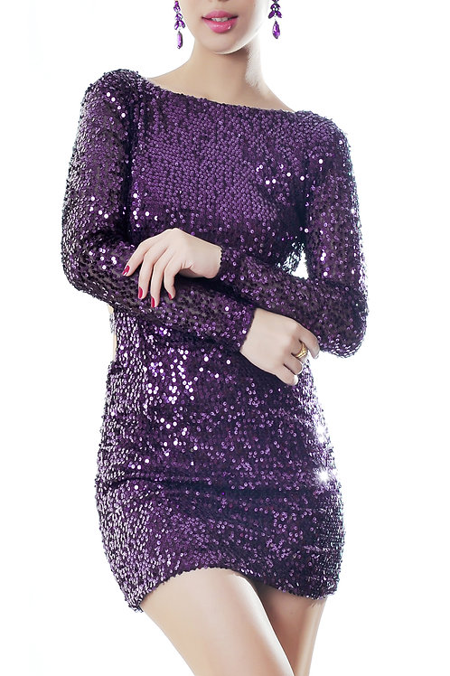Sequined dress with side cutouts (SOLD OUT)