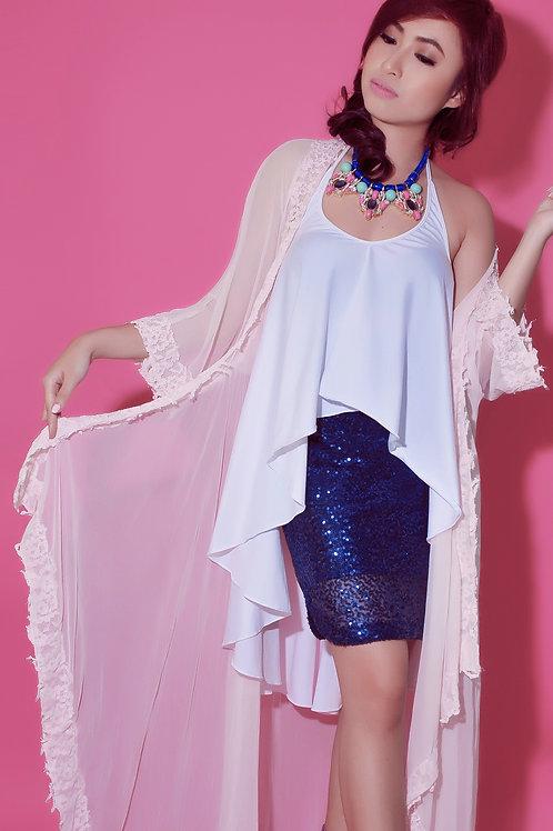 Sheer kimono maxi