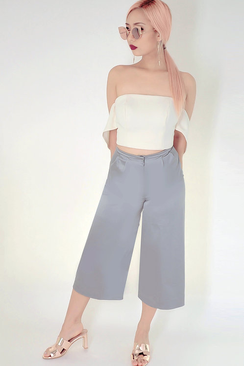 Satin pleated culottes (SOLD OUT)