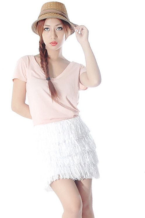 Fringe mini skirt (SOLD OUT)