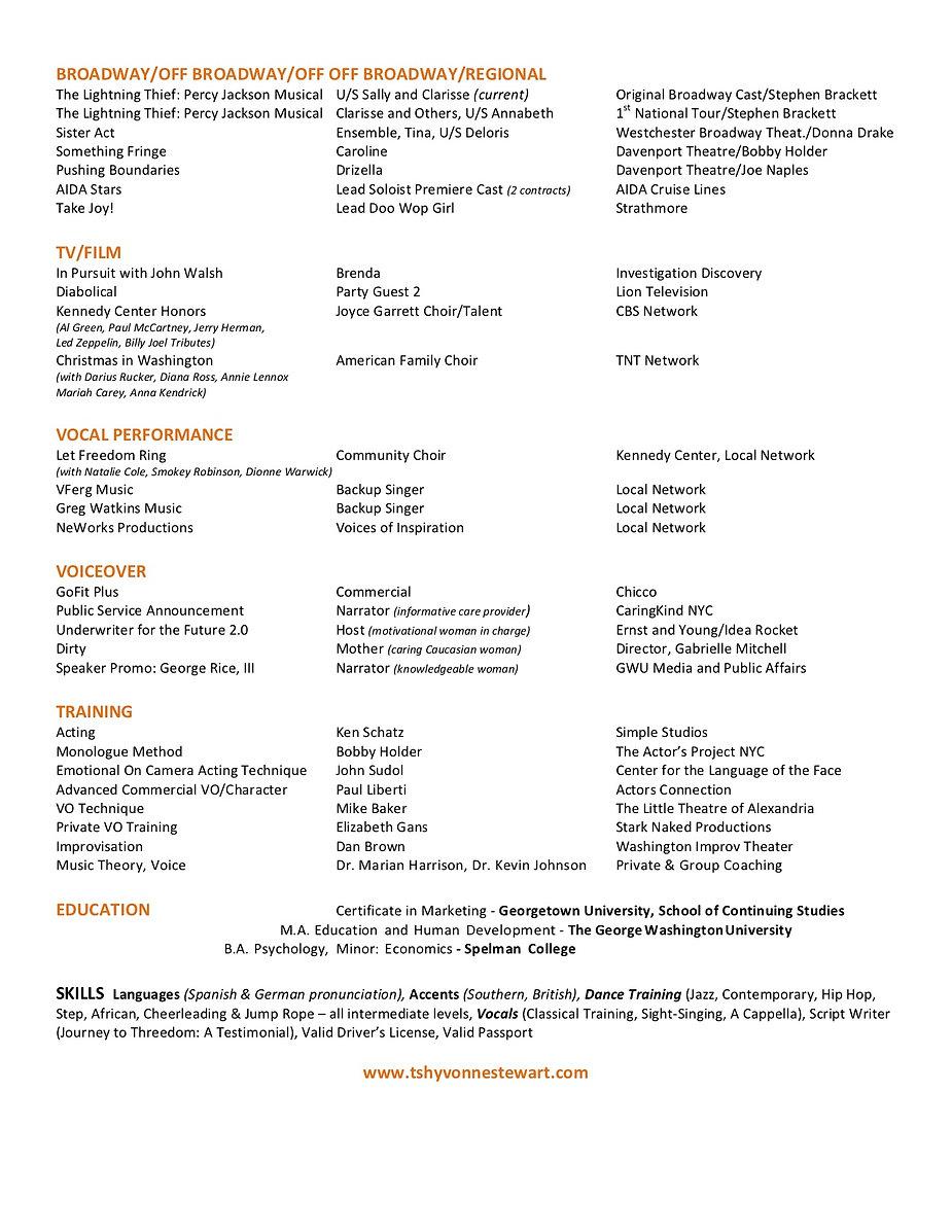 TShyvonneStewart Actor Resume Website.jp