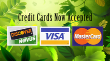Credit Cards Accepted!