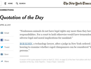 Honored with Quotation of the Day by The New York Times
