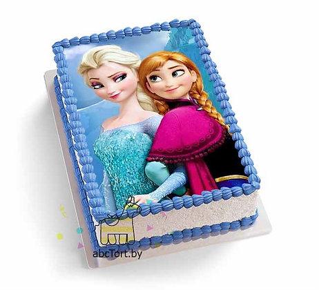 Торт на заказ - Анна и Эльза
