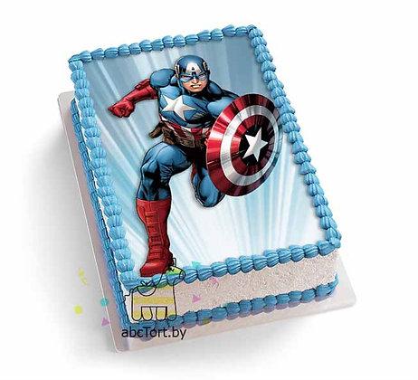 Торт на Заказ Капитан Америка