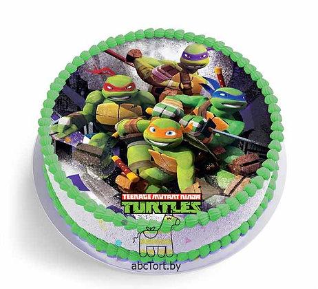 Торт на заказ - Черепашки Ниндзя