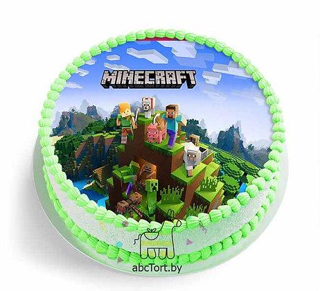 Детский заказной торт Майнкрафт