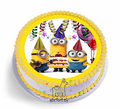 Торт на заказ - Миньоны