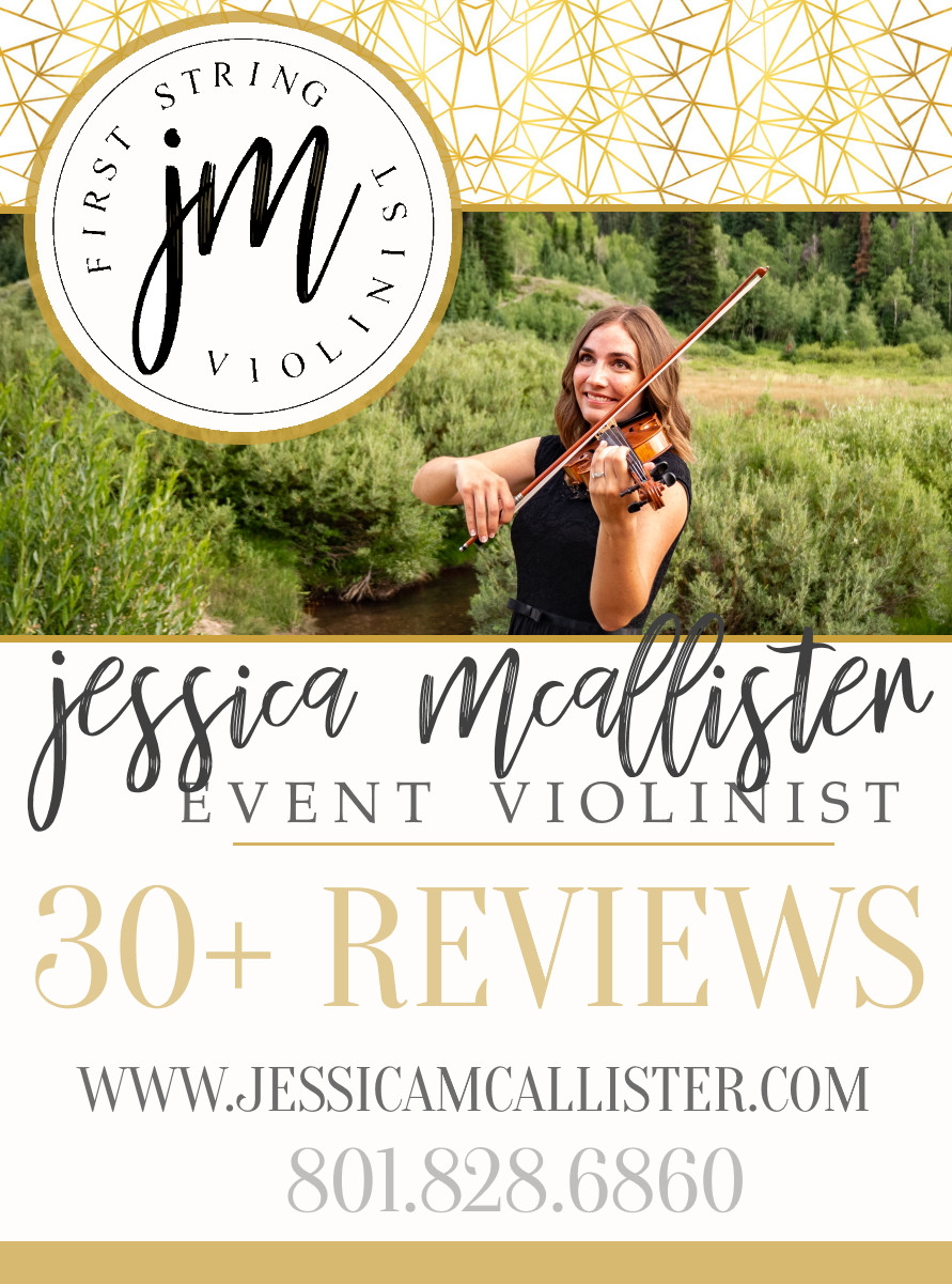 Hire solo violinist Jessica McAllister for your Utah wedding